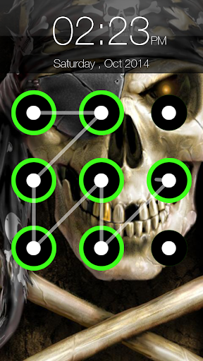 Skull Pattern Screen Lock