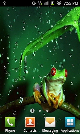 Rain drops HD Live Wallpaper