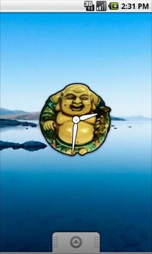 Laughing Buddha Clock Widget