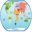 Geography – World continents logo