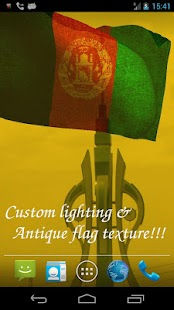 3D Afghanistan Flag- screenshot thumbnail