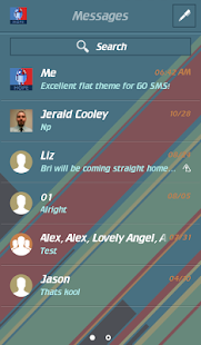FLAT MATERIAL THEME FOR GO SMS- screenshot thumbnail