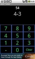 Screenshot of Math Training