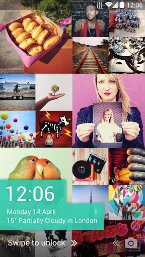 Tiles Instagram Lock Screen