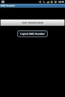 IMEI Number - screenshot thumbnail