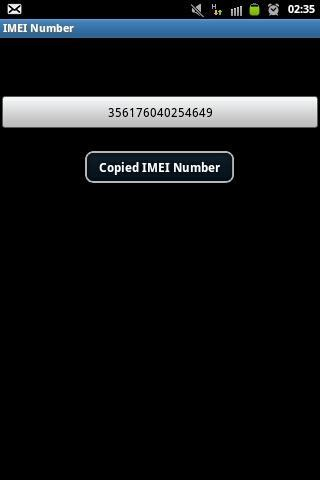 IMEI Number- screenshot