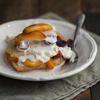 Roasted Peach and Cherry Einkorn Shortcake