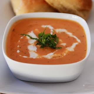 Creamy Tomato-Potato Basil Soup.