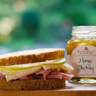 Ham, Brie and Apple Sandwich.