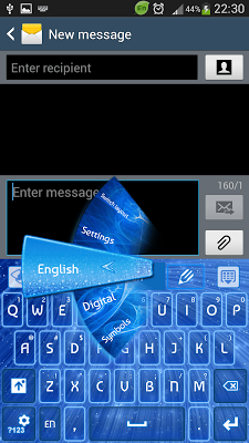 Keyboard Blue Stars - screenshot