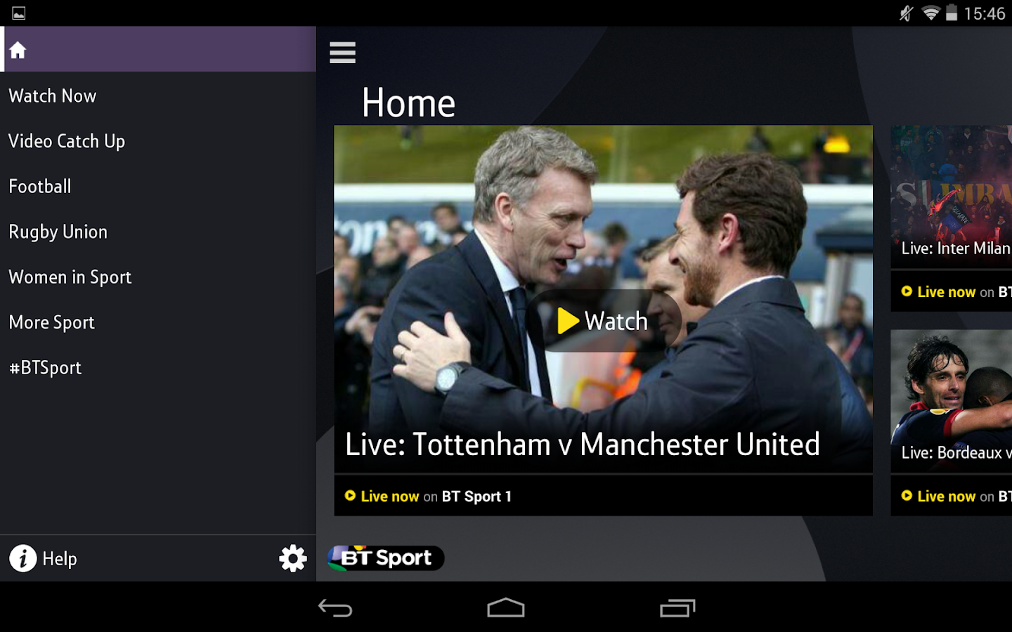 BT Sport - screenshot