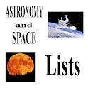 Science Lists - ASTRONOMY
