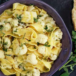 Cauliflower Pappardelle with Gorgonzola.