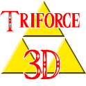 Zelda Triforce 3D logo