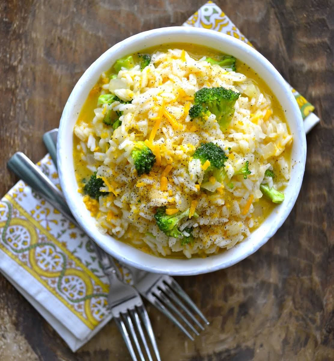 Creamy Broccoli Cheddar Rice Recipe