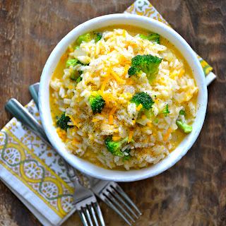 Creamy Broccoli Cheddar Rice.