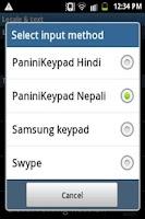 Screenshot of PaniniKeypad Nepali IME