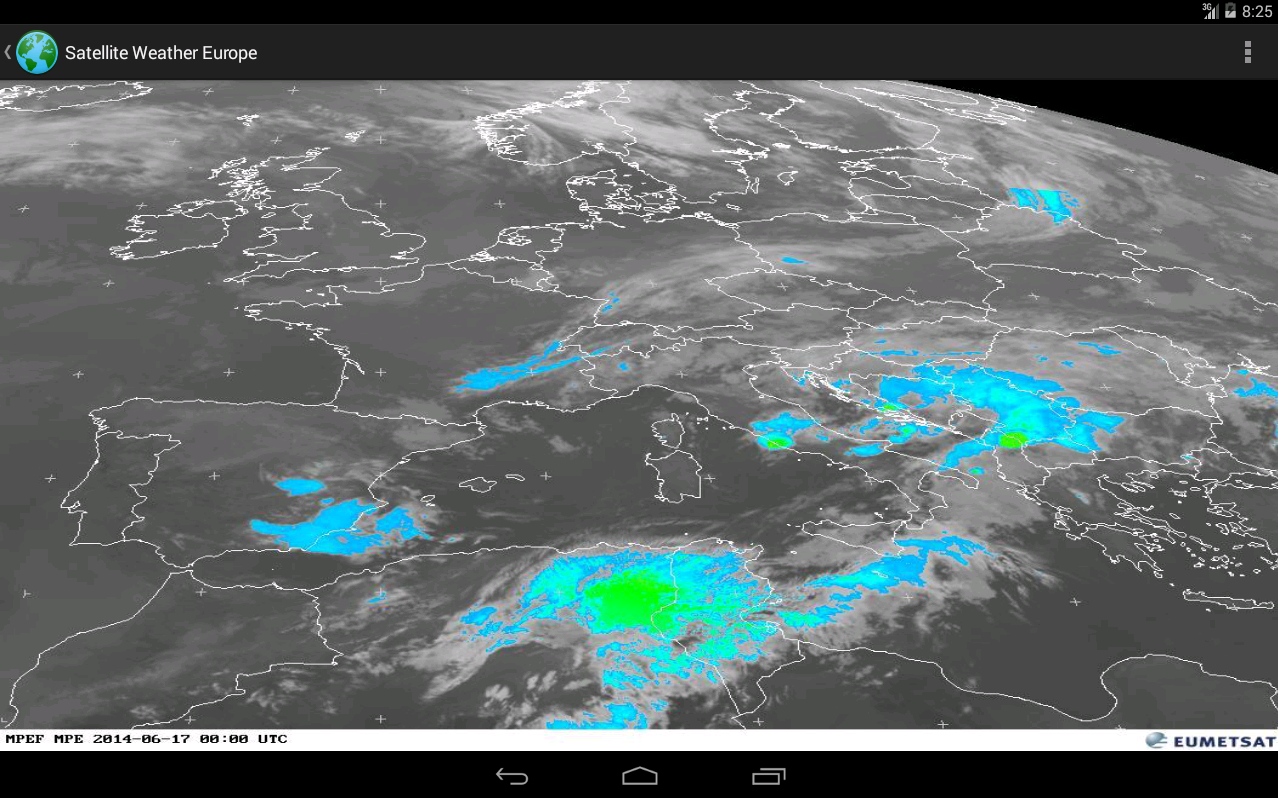 Satellite Weather Europe Google Play Store Revenue Download - Real time satellite images