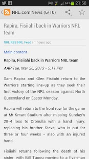 NRL News National Rugby League - screenshot thumbnail