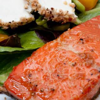 Salmon- Bourbon Glaze.
