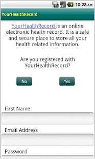 YourHealthRecord - screenshot thumbnail