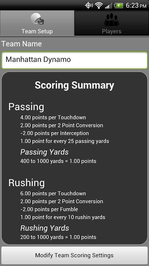 Fantasy Football Monitor 4 NFL- screenshot