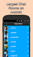 Screenshot of Live Chat Rooms