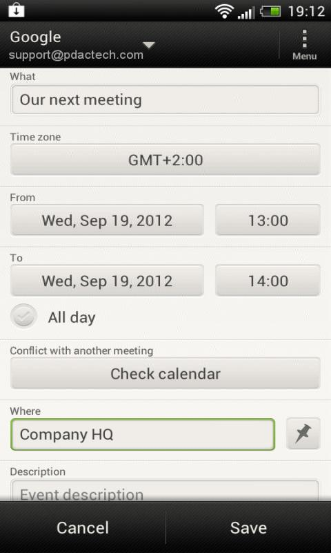 ICS 2 Calendar- screenshot