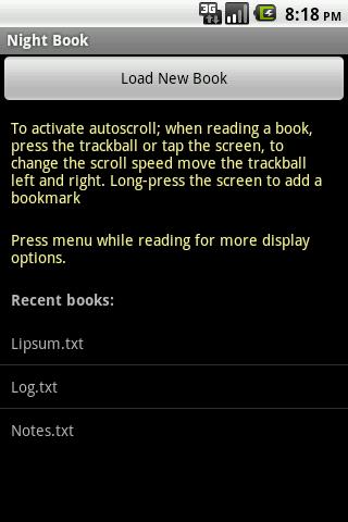 Nightbook Free- screenshot