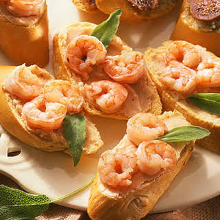 White Bean-and-Shrimp Crostini.