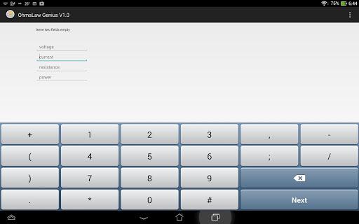 Ohms Law Genius Calculator