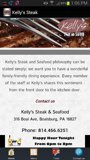【免費旅遊App】Kelly's Steak & Seafood-APP點子