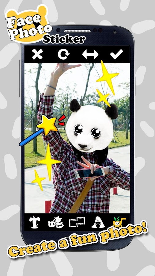 Face Photo Sticker: Wild Foto- screenshot