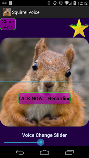 Talking Squirrel Voice Changer