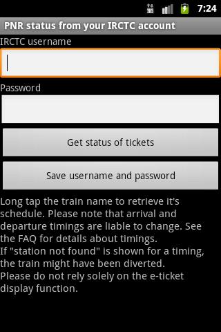 PNR status pro- screenshot