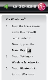 LG Genesis 760 User Guide- screenshot thumbnail