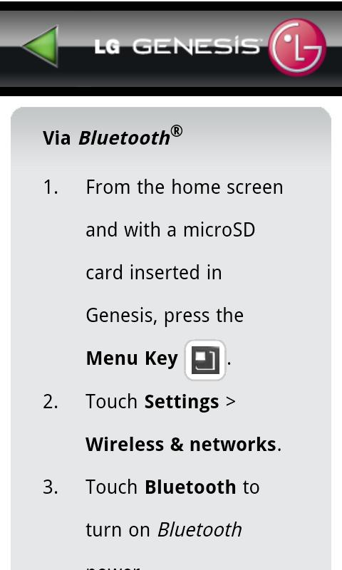 LG Genesis 760 User Guide - screenshot