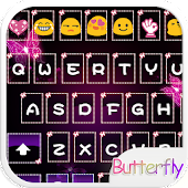 Neon Pink Butterfly Theme