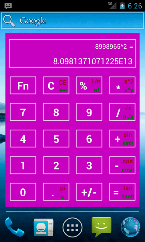 Widget Calculator (NO ADS)- screenshot