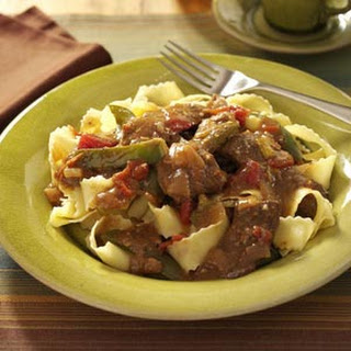 Slow-Cooked Pepper Steak.