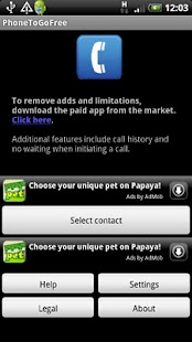 PhoneToGo Free - screenshot thumbnail