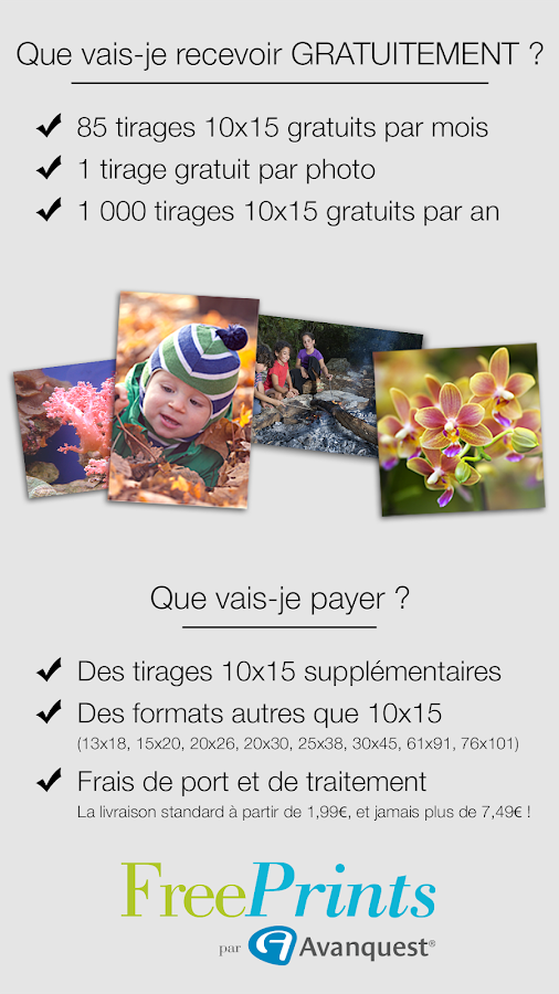 Free Prints - Photos Gratuites - screenshot