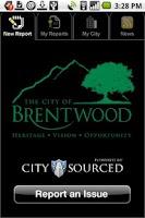Screenshot of Brentwood CA, Report It!