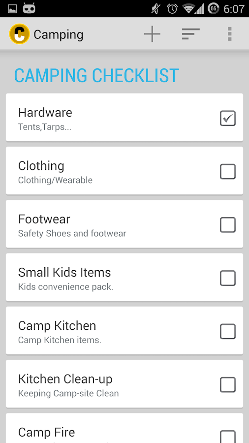 Camping Checklist Android Apps on Google Play – Camping Checklist Template