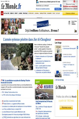 rss lemonde.fr - screenshot