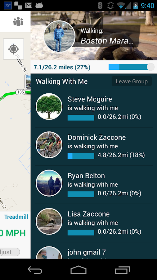 Virtual Walk Treadmill or GPS- screenshot
