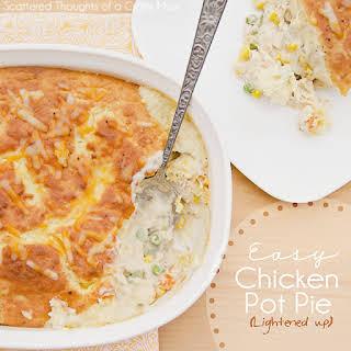 Easy Chicken Pot Pie (Lightened up).