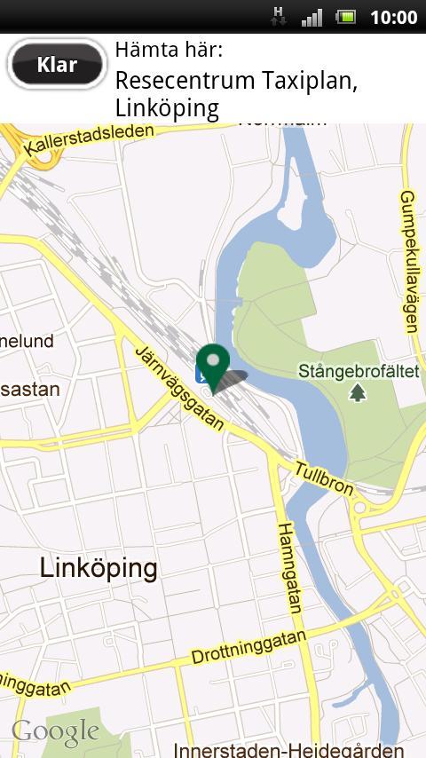Taxibil i Östergötland- screenshot