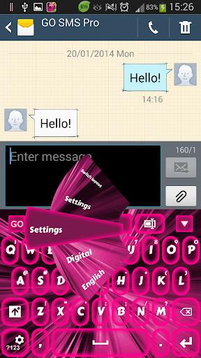 粉红色的霓虹灯键盘