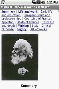 Works of Henry Longfellow - screenshot thumbnail